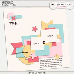 Quality DigiScrap Freebies: Template freebie from Digital Scrapbook Ingredients