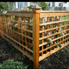 Trellis fence ideas trellis fence ideas cute idea for garden tall plans painted best panels cheap maximum height of trellis fence design plans Trellis Fence, Lattice Fence, Trellis Ideas, Backyard Fences, Garden Fencing, Fenced Yard, Farm Fence, Yard Landscaping, Fence Design