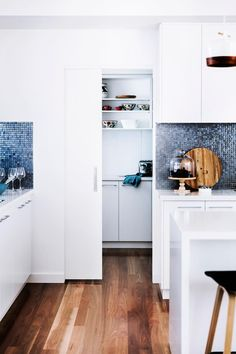 A butler's pantry expands the kitchen's functionality. Photo: Maree Homer | Styling: Rebecca Fuge | Story: Australian House & Garden