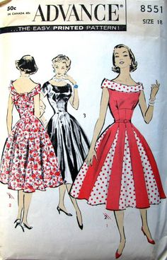 50s Rockabilly Dress - wish I could make this beauty!