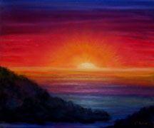 oil pastel drawings | Bling-Kin-Eck: Sunset painting