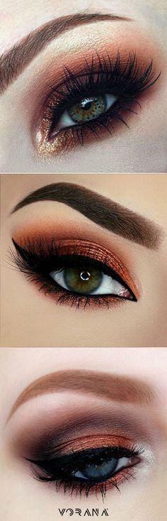 Ojos con sombra Copper. #Trend #Ojos #Sombras #Copper
