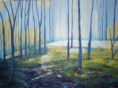 "Saatchi Art Artist: Julia Blake; Acrylic 2012 Painting ""Light in The Grove"""