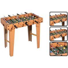 Masa de #foosball este realizata din lemn, dispune de 6 bare metalice cu manere din plastic cu care jucatorii pot incepe adevarate campionate de #fotbal. Foosball, Wine Rack, Plastic, Bar, Furniture, Home Decor, Decoration Home, Room Decor, Home Furnishings