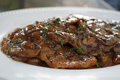 Tender Veal Scaloppine with a Rich Mushroom and Marsala Wine Sauce « FoodPornDaily | Food Porn, Food Photography