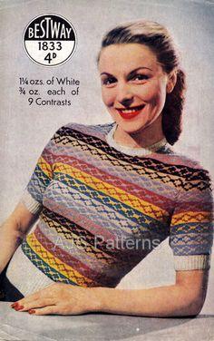 Love a little vintage fair isle stripe