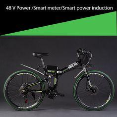 24/26 inch disc brake folding electric bicycle 48v lithium battery 350w&500w motor power walking electric mountain bike Ebike