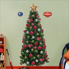 Fathead Christmas Tree Wall Graphic >>> Click image for more details.