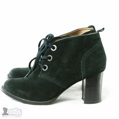 HUSH PUPPIES AMBERILL Suede Black Leather Ankle Boots Shoes Heels 8 UK 9 US £80