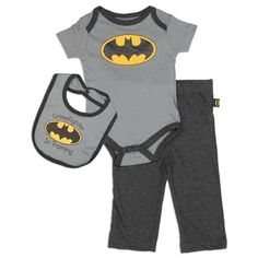 Sizes 0/3 Months 3/6 Months 6/9 Months Made From 100% Cotton Label DC Comics Batman Officially Licensed By DC Comics Batman
