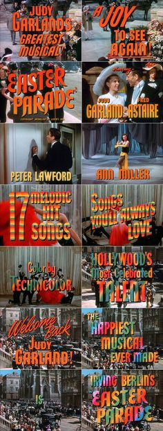 Easter Parade (1948) movie trailer typography
