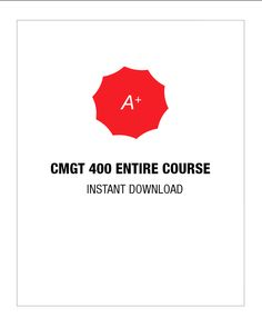 CMGT 400 Entire Course - http://www.uopsuccess.com/exam/cmgt-400-entire-course/