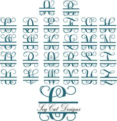 33 Great SNC Split Monograms images | Penmanship, Hand lettering
