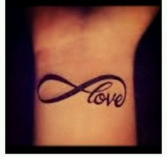 infinity love tattoo for either my wrist or back of neck