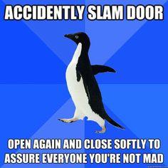 Yeah, I've done this! XD Socially Awkward Penguin meme