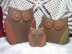 Wooden Owls