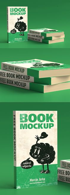 Big list of fresh free PSD Mockup Templates for commercial use. All mock-ups are perfect to showcase your artwork with professional look. Easy to use mockup Photoshop Book, Free Photoshop Mockups, Mockup Templates, Templates Free, Book Cover Design, Book Design, Design Ideas, Up Book, Free Graphics