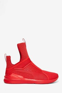 Rihanna x Puma Fenty Trainer - Red | Shop Shoes at Nasty Gal!