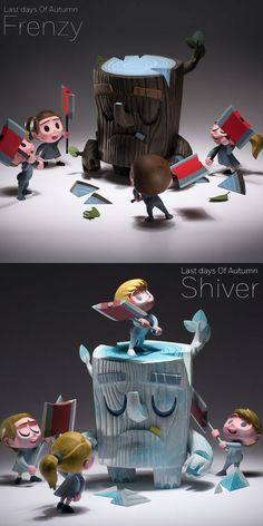 "Coarse Toys x Amanda Visell -  ""Last Days Of Autumn"" vinyl figure sets announced!"
