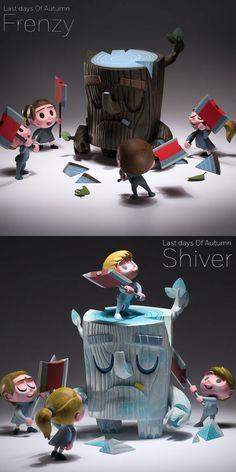 "Coarse Toys x Amanda Visell -  ""Last Days Of Autumn"" vinyl figure sets announced!"