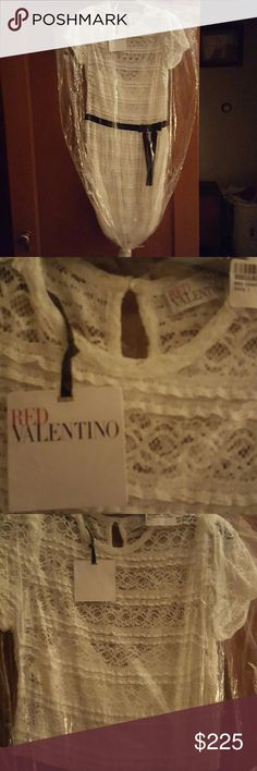 RED Valentino ivory lace dress NWT Ivory lace dress. No longer available RED Valentino Dresses Midi