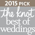 We won The Knot 2015 Award!!