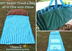 Coastal Living on the Beach.... Looks Like the Most Comfy Beach Tote Bag & Towel All In One Thingy.