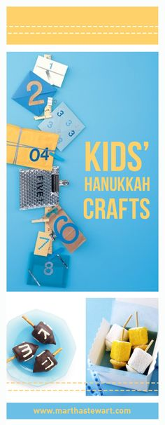 Teach kids all about the traditions of Hanukkah, the Festival of Lights, with these easy menorah, dreidel, and gift-wrapping projects.