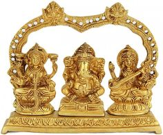 A Great Triad of Lakshmi, Ganesha and Saraswati