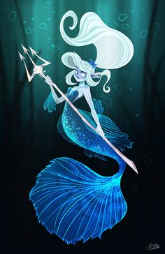 Props to the artist! - Here's my fighting fish inspired mermaid for this month's character design challenge! Fantasy Mermaids, Real Mermaids, Mermaids And Mermen, Mermaid Drawings, Mermaid Art, Mermaid Paintings, Vintage Mermaid, Fantasy Creatures, Mythical Creatures