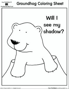 groundhog day will i see my shadow coloring pages for kids printable groundhog day coloring pages for kids