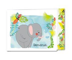 faire part naissance elephant de la jungle