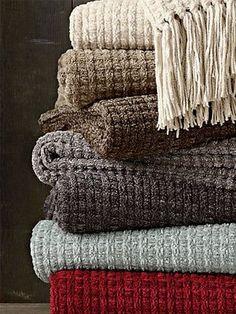 Chenille Braided Throw Blankets