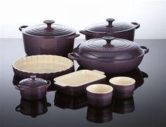 Purple Enameled Cast Iron Kitchen Ware Set