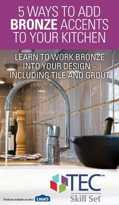 Discover these five tips for adding Bronze accents to your kitchen. Bronze is known to compliment almost any color scheme, transforming a kitchen to a warm and welcoming area for the whole family to enjoy. Kitchen Time, Home Decor Kitchen, Home Kitchens, Diy Home Decor, Kitchen Ideas, Diy Interior, Interior Design, 1st Apartment, Inspiring Things
