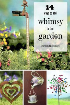 Adding some creative, zany, or whimsical elements to the garden creates a personal space that can satisfy the senses. The possibilities are endless, from art to function and everywhere in between. Here...