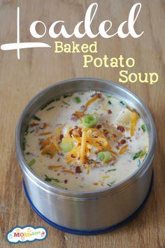 Slow Cooker Loaded Baked Potato Soup - LifetimeMoms