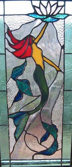 Mermaid Stained Glass Window