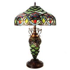 Arielle Green 2-light Table Lamp