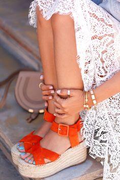 cute orange sandals