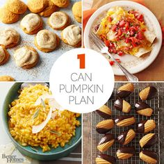 Pumpkin ... it's basically the best ingredient ever. We love it in everything -- pies, cookies, soups (and the list goes on). But let's be frank: There's nothing worse than having leftover canned pumpkin to use up. That's whe