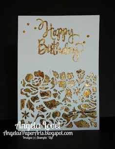 Angela's PaperArts: Gilded detailed floral card