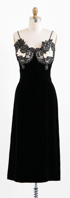 vintage 1950s dress / Oleg Cassini / 50s Black by RococoVintage