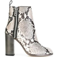 Diesel snakeskin effect boots ($358) ❤ liked on Polyvore featuring shoes, boots, grey, snakeskin boots, gray boots, grey boots, diesel footwear and snake skin boots