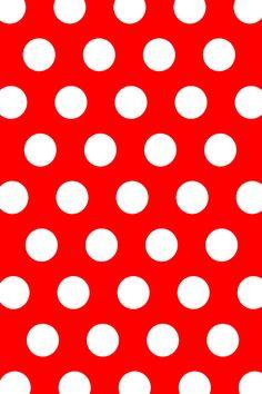 Red & White polka dot wallpaper.