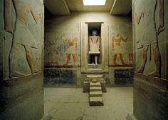 Interior art in the Tomb of Meriruka in Saqura, Egypt.