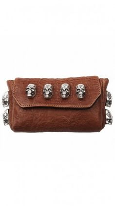 Giulietta Bag in Cognac. This should be mine I think! Crane, Biker Wear, Skull Purse, Candy Skulls, Skull Fashion, Rocker Style, Skull And Crossbones, Punk, Skull And Bones