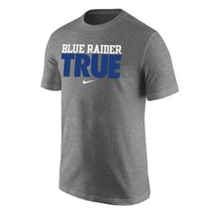 This MTSU Nike tee gives Blue Raiders fans who wear it a nice, authentic feel. It's great for showing your pride at tailgates, big games and other MTSU related events! Go Blue Raiders! #MTSU #blueraiders #Nike #trueblue #TRUE #textbookbrokers