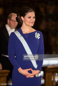 Crown Princess Victoria of Sweden attends the Royal Patriotic Society's annual event at Riddarhuset on April 25, 2017 in Stockholm, Sweden. (Photo by Michael Campanella/Getty Images)