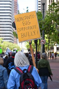 Here's a photo of someone's sign from the May 25, 2013 March Against Monsanto on Market St. in San Francisco.